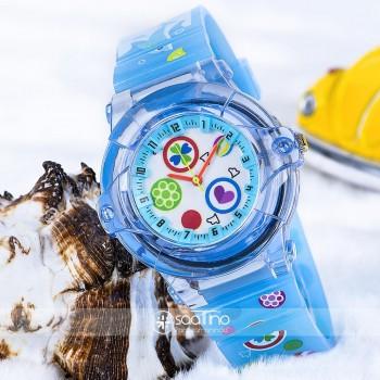 Açık Mavi Renk Silikon Kordonlu Spectrum Marka Çocuk Saat ST-303711