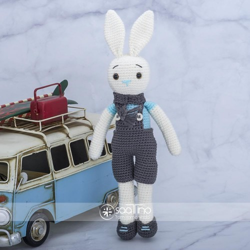 Amigurumi Oyuncak El Örgüsü Organik Sevimli Tavşan Boyutlar Y:27cm=G:7,5cm ST-303672