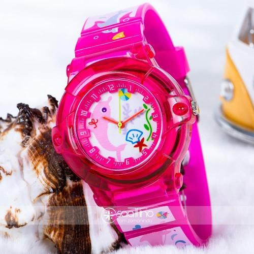 Pinkoli Seri Yunus Balık Figürlü Pembe Renk Çocuk Kol Saat ST-303721