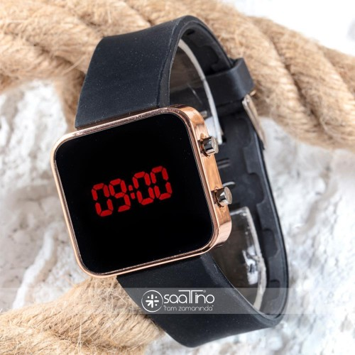 Dijital Bakır Mini Kasa Trend Seri Led Kol Saati Silikon Bileklik Saat ST-303507