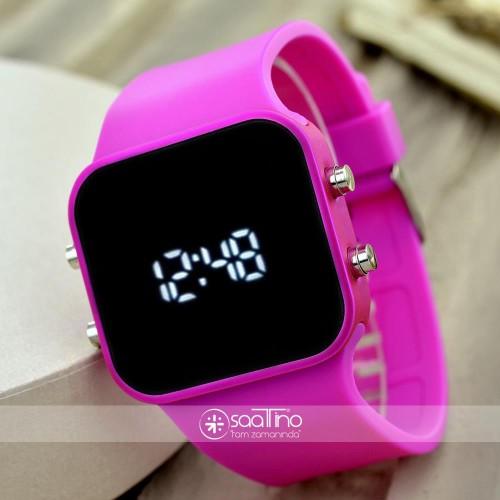 Spectrum Marka Dijital Silikon Kordon Yetişkin Kız Kadın Kol Saati ST-303769