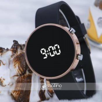 Rose Çelik Kasa Siyah Silikon Kordonlu Dijital Led Kadın Unisex Saat ST-303727