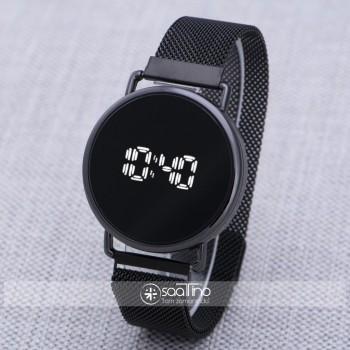 Dokunmatik Dijital Siyah Mıknatıslı Kordon Unisex Kadın Kol Saati ST-303921
