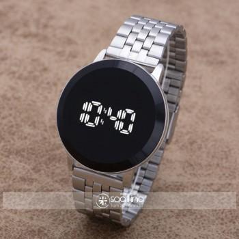 Gümüş Çelik Kordonlu Dokunmatik Led Unisex Kol Saati ST-303936