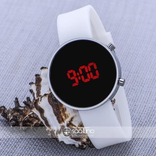 Gümüş Renk Kasa Dijital Led Ekran Silikon Kordon Bayan Unisex Kol Saati ST-303660