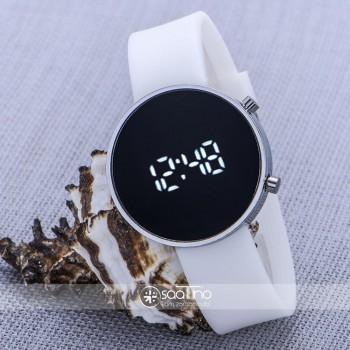 Gümüş Renk Kasa Dijital Led Ekran Silikon Kordon Bayan Unisex Kol Saati ST-303603