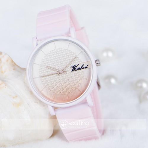 Şık Kadın Saat Toz Pembe Silikon Kordon Spor Kasa Bayan Saat ST-303806