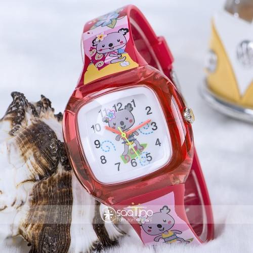Koala Junior Temalı Kırmızı Renk Silikon Kordonlu Spectrum Marka Çocuk Saat ST-303712