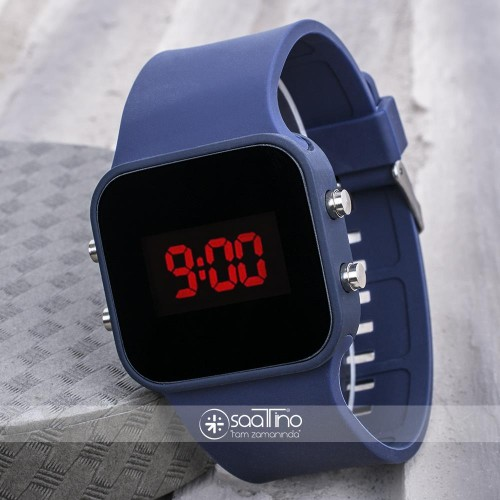 LED Ekran Dijital Silikon Kordon Unisex Kol Saat ST-303646