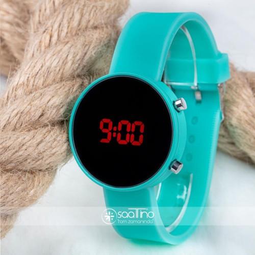 Led Watch Saat Su Yeşili Silikon Kordon Unisex Kol Saati ST-303482