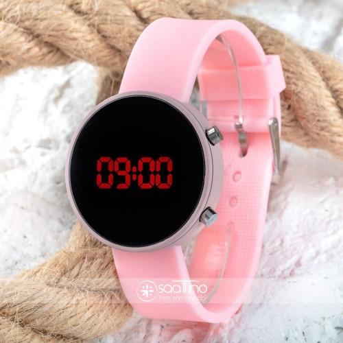 Led Watch Toz Pembe Renk Dijital Bayan Yetişkin Kız Çocuk Kol Silikon Saati ST-303499