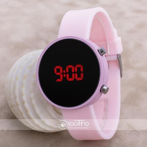 Led Watch Toz Pembe Dijital Bayan Yetişkin Kız Çocuk Kol Silikon Saat ST-303633