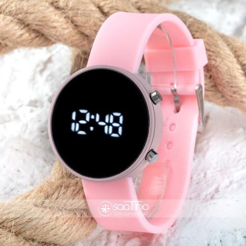 Led Watch Toz Pembe Renk Dijital Bayan Yetişkin Kız Çocuk Kol Silikon Saati ST-303560