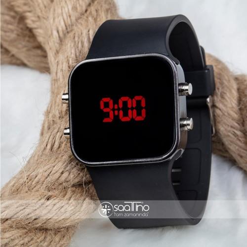 Orjinal Spectrumwatch Led Dijital Kol Saat Silikon Bileklik Siyah Saat ST-303056