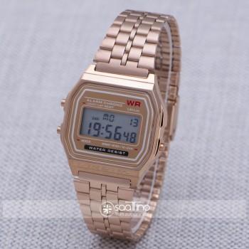 Rose Renk Retro Minimal Çelik Hasır Kordon Unisex Kadın Kol Saati ST-303939