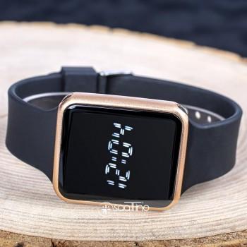 Rose Silikon Kordonlu Dokunmatik Led Ekran Dijital Saat ST-303729