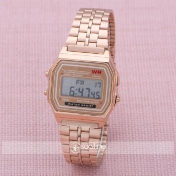 SaaTTino Rose Renk Çelik Kordon Dijital Retro Kadın Kol Saat ST-303871