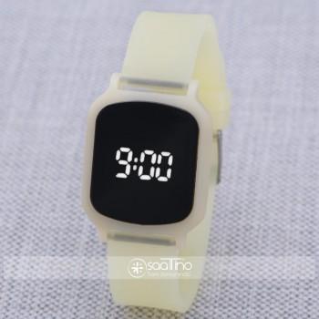 SaaTTino Sarı Silikon Kordonlu Dokunmatik Led Ekran Kadın Genç Kız Kol Saati ST-303858