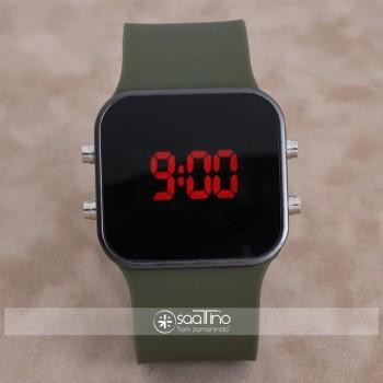 SaaTTino Watch Siyah Kasa Haki Yeşil Kordon Dijital Ekran Unisex Kol Saat ST-303895