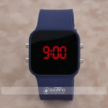 SaaTTino Yeni Lacivert Dijital Ekran Silikon Kordonlu Unisex Kadın Kol Saat ST-303950