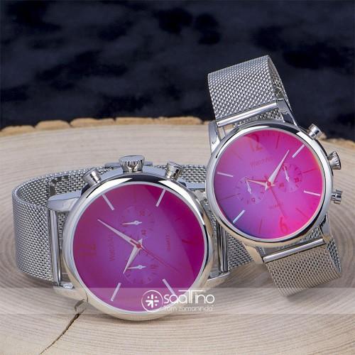 Sevgili Saatleri Çift Saatler Renkli Camlı Kadın Erkek Saatleri ST-303782