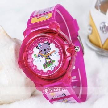Şirin Fuşya Renk Silikon Kordon Rakamlı Kız Çocuk Kol Saati ST-303831