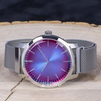 Spectrum Watch Renkli Cam Hasır Örgü Kordon Mıknatıslı Erkek Saati ST-303788