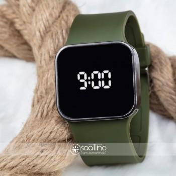 TOUCH Haki Yeşil Silikon Kordon Dokunmatik Unisex Dijital Led Kol Saati ST-303682