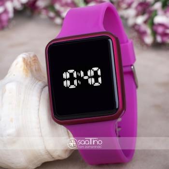 Touche Watch Fuşya Renk Silikon Kordonlu Dokunmatik Led Bayan Saat ST-303731