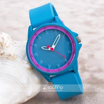 Turkuaz Renk Silikon Kordonlu Yetişkin Kız Bayan Kol Saati ST-303698