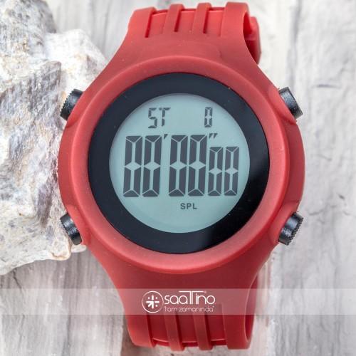 WatchART Dijital Unısex Sporcu Dağcı Kol Saati Japon Mekanizma Bordo ST-303380