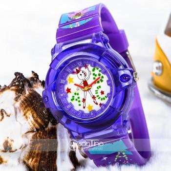 Şık Balerin Tavşan Tasarımlı Kadran Mor Silikon Kordonlu Çocuk Saati ST-303717