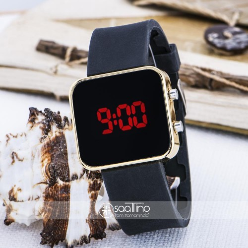 Yeni Led Dijital Ekran Mini Sarı Kasa Unisex Kol Saat ST-303617